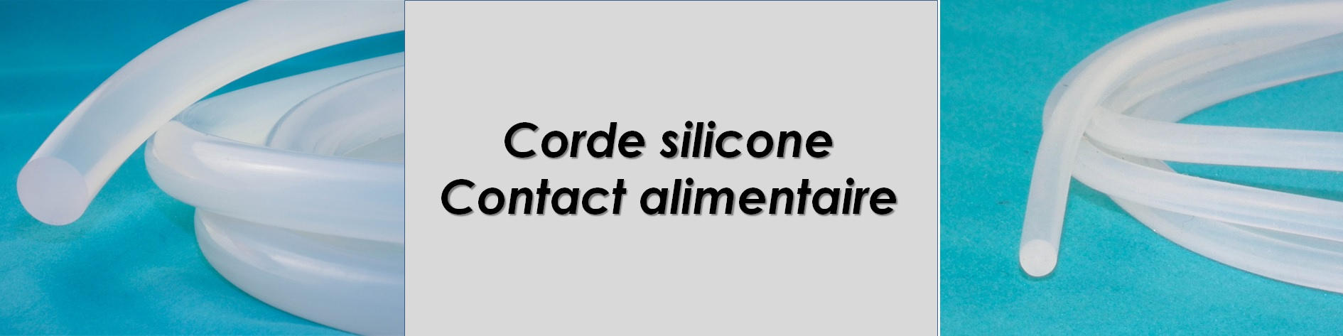 Corde ronde translucide Contact alimentaire
